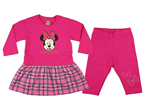 Minnie Mouse Mädchen Baby Kleid Set Thermo-Leggings Warme -