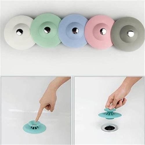 Küche Badezimmer Spüle Plugs Ablauf Haar Sieb Stopper Waschbecken Bad Badewanne Supply Gadget 3 Packungen - Silikon-drain-kits