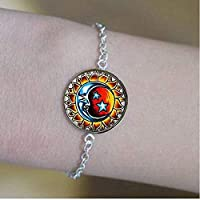 Glass Sun and Moon Bracelets,Glass Tile ,Everyday Gift