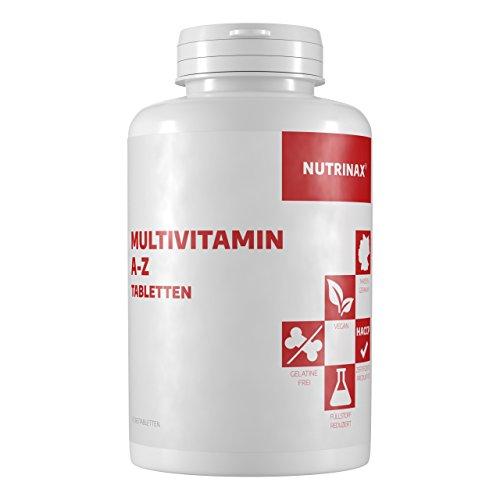 Multivitamin A-Z Tabletten - 365 Tabletten hochdosiert Jahrespackung - vegan - Nahrungsergänzungsmittel Made in Germany