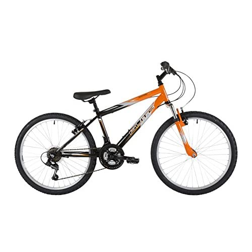 41UhWXnKi9L. SS500  - Flite Boy Ravine Bike, 24 inch Wheel - Black/Orange with Cycling Essentials Pack