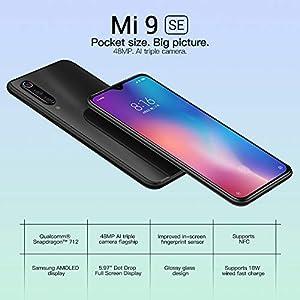 Xiaomi Mi 9 SE Smartphones 5.97'' Pantalla, 6GB de RAM + 64GB de ROM, Snapdragon 712 Procesador Octa-Core Teléfonos Móviles (Negro)