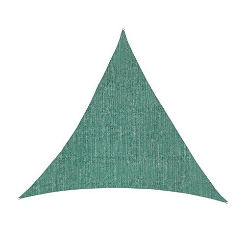 Jarolift Voile d'ombrage | Toile d'ombrage | Voile triangulaire| Tissu respirant | 500 x 500 x 500 cm, vert