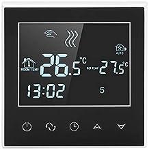 Asixx Termostato Digital Programable, Controlador de Temperatura WiFi, Calentador de Agua, AC200-240V, con Pantalla Táctil LCD