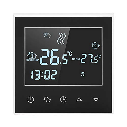 Sorand Programmierbar Digital Thermostat, AC200-240V W-LAN Kabellos Heizungsthermostat LCD Berührungsempfindlicher Bildschirm App-Steuerung, Bequem zu Bedienen