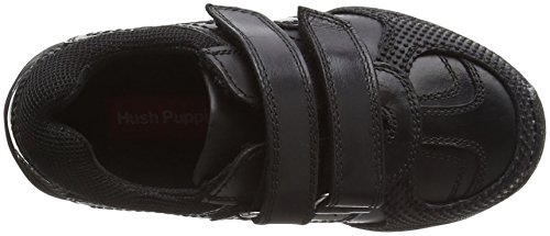 Hush Puppies Jezza, Jungen Sneakers Schwarz (Black)