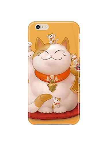 i6ps 0631Maneki Neko Lucky Cat Glossy Coque Étui Case Cover For iPhone 6Plus (5.5)