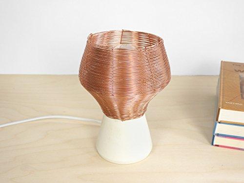 Kupfer geflochtene Seiten Lampe - tisch-lampe lampen-schirm handarbeit wand kupfer-draht modern schreibtischlampe keramik wohnung deko-ration wohnzimmer-lampe porzellan -