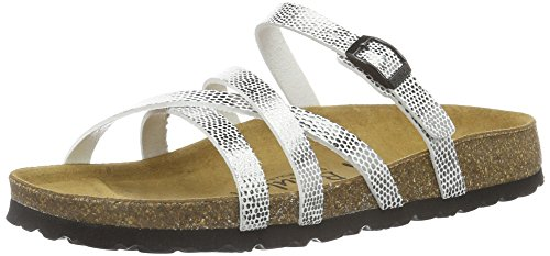 Betula Stripes Cross Buckle, Ciabatte Donna Argento (Silber (Bf Mirror Silver))