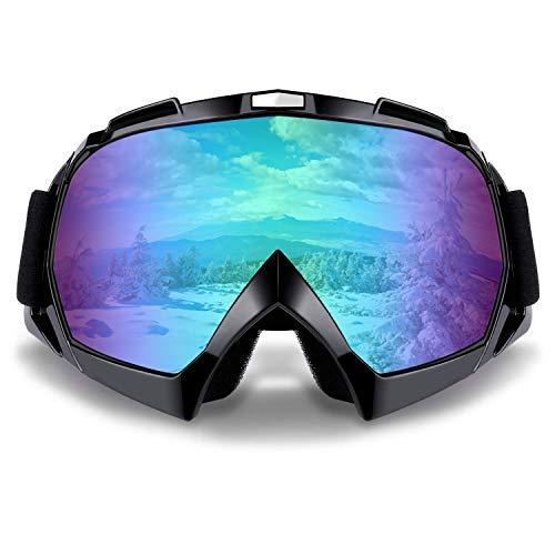 SZSMD Skibrille, Winddicht Anti-Nebel Snowboard-Schutzbrillen, Snowboardbrille, Motorradbrillen für Motorrad Fahrrad Skifahren Skaten Augenschutz -