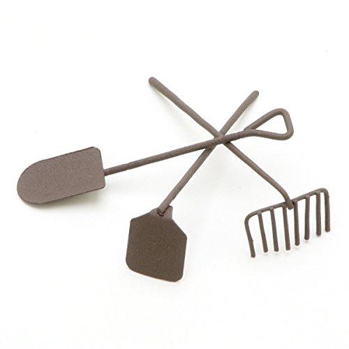 Darice Timeless Miniatures Set di attrezzi da giardino, in metallo