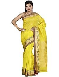 The Chennai Silks - Silk Cotton Saree Yellow- (CCMYSC4814)