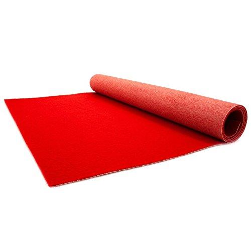 Primaflor-Ideen in Textil Roter Teppichläufer 1m x 2m - Hochzeitsläufer - VIP Eventteppich - 2,6mm Höhe