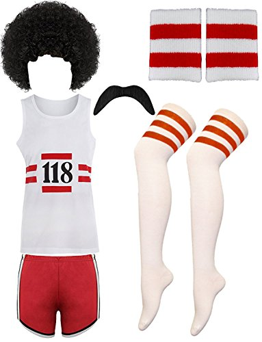 Kostüm Retro Fancy Dress - RIDDLED WITH STYLE 118 MENS FANCY DRESS COSTUME MARATHON RETRO VEST SHORTS TASH SOCKS