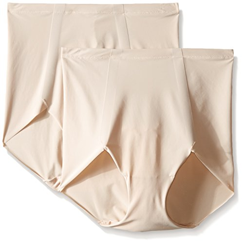 Maidenform Sleek Smoothers 2 Pair Pack Brief-Mutande Donna Beige (Paris Nude) 52