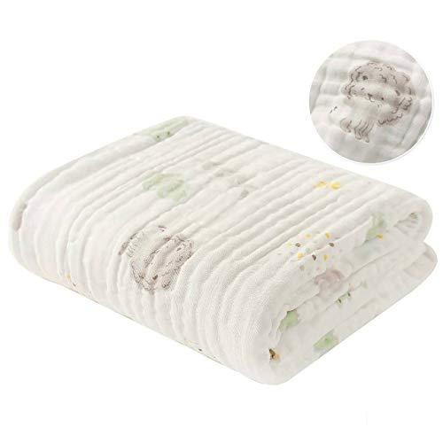 YANG Baby Badetuch Reine Baumwolle Gaze Abdeckung Decke Sommer Baby Wasser absorbierende Neugeborene neines Handtuch Baby liefert 120X120CM/Imaginez la Couleur de la Chanson - Gaze-abdeckung