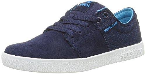 Supra Stacks II, Baskets Basses Mixte Adulte Bleu (Navy/White)