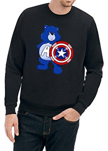Captain Bear Sweater Black Certified Freak-L (Baumwolle Sweatshirt Bear Black)