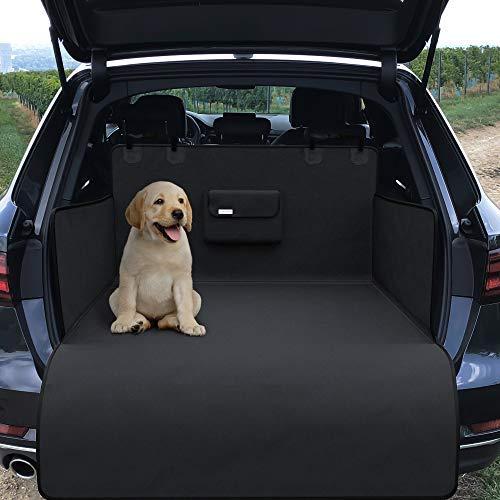Kofferraumschutz Auto Hund, Schondecke mit Transportbeutel – wasserdicht waschbar   Weiche rutschfeste Schutzdecke   Kofferraumschutzdecke   Kofferraumdecke Auto Schutz   Kofferraumschutzmatte