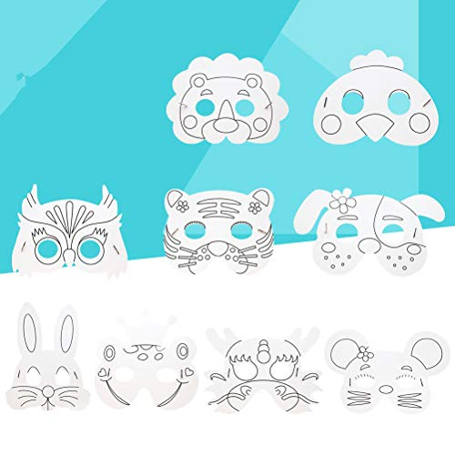 TOYANDONA Kinder DIY Tier Maske Craft Blank Masken Cosplay Spielzeug Kostüm Party 10 stücke