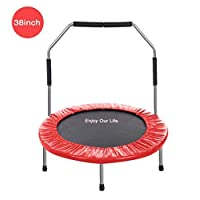 YOLEO Multiple Size and Color Mini Trampoline/Fitness Rebounder for Adult and Kids Ideal for Indoor or Outdoor - 36/38 Inch Available, 100KG Max