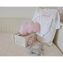 Canastilla bebé personalizada. Regalo original para un recién nacido, personalizado y hecho a mano