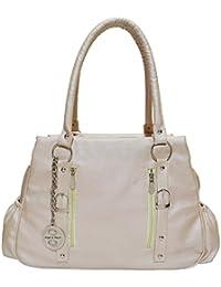 Angel & Rayon Ramona PU Leather Fancy Stylish Handbag For Womens, Handbag For Ladies And Handbag For Girls (Cream...
