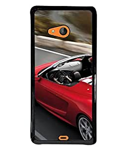 PrintVisa Designer Back Case Cover for Lumia Lumia 540 (red speedy sparkling car fast)