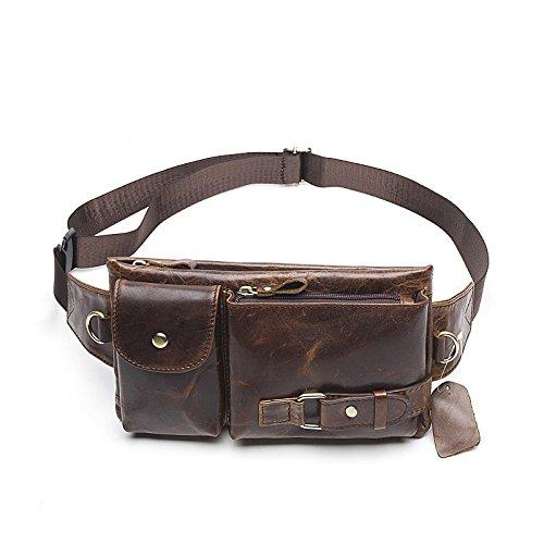Men/'s Genuine Leather Sling Bags Chest Shoulder Bag Crossbody Satchel Backpack