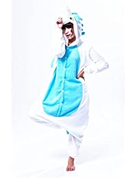 Autek Unisexe animaux Costume déguisement Hoodies ensemble de pyjamas licorne blue