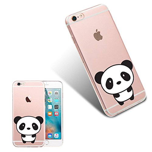 Pacyer® iPhone 6/6s Custodia Panda TPU Case Transparente Protettivo Skin Shell Case Cover Per Apple iPhone 6 6s (4,7) 6