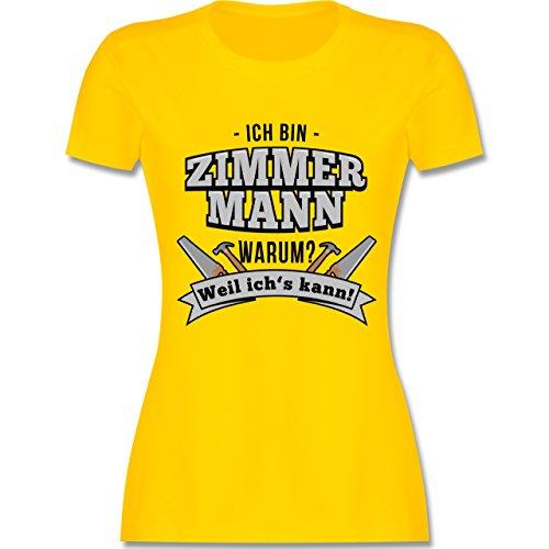 Handwerk - Ich bin Zimmermann - tailliertes Premium T-Shirt mit Rundhalsausschnitt für Damen Gelb