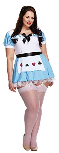 (FANCY DRESS PLUS SIZE ALICE IN WONDERLAND COSTUME FITS 16-18)