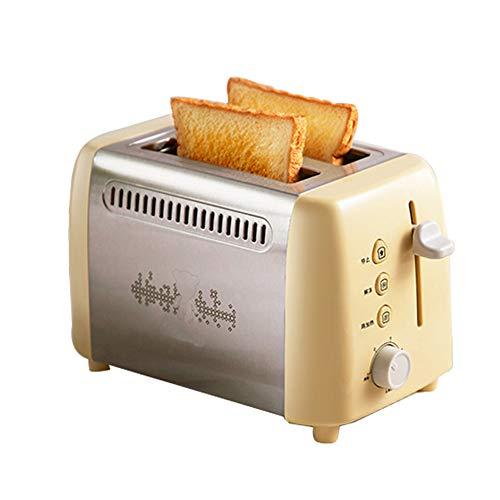 YHSFC 2 Stück elektrischer Toaster Sandwich-Maker Toaster mit Schutzhaube für die Küche Frühstück ofen