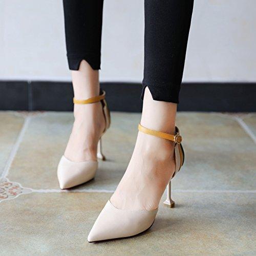 Flyrcx Printemps Et L'automne Saison Des Femmes Chaussures De Mode Avec Un Talon Mince, Chaussures À Talons Hauts, Trente-huit 34