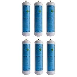 Filtri Acqua Italia 6 Bombola Gas Co2 600 Gr E290 Gasatore Monouso Frizzante Valvola. 11X1 Cdr 3182003