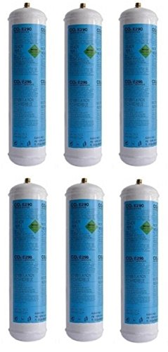 6 Bombola gas co2 600 gr E290 gasatore monouso frizzante valvola. 11x1 CDR 03182003