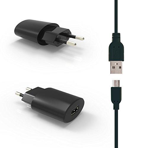 HubLines® - Qualitäts- Micro- USB- Ladegerät 2.1A inkl. Kabel in schwarz für Samsung, HTC, LG, Huawei, Xiaomi, Sony, Android, Tablets, Smartphone und Handy - Netzteil/Netzgerät/Netzstecker/Ladegerät/Ladekabel/Ladeteil