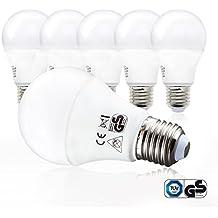 LED Glühbirne | Ersetzt 60w | 5er Set E27 | A60 Leuchtmittel | 9 Watt | 806 Lumen | 2700 Kelvin