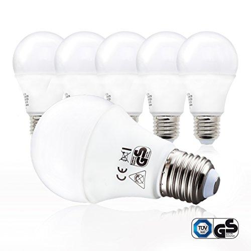 B.K.Licht LED Glühbirne | Ersetzt 60w Halogen | 5er Set E27 | A60 Leuchtmittel | 9 Watt | 806 Lumen | 2700 Kelvin