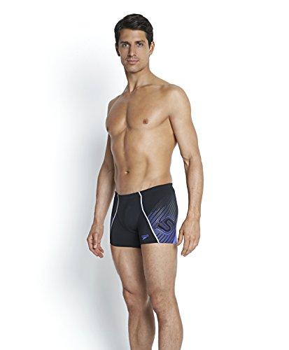 Speedo Herren Fit V Aquashorts Badehose Black/Purple