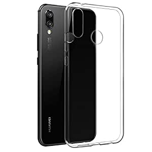 Case For Huawei P20 Lite, Clear Case For Huawei P20 Lite, [Fusion] [Clear] [Silicone Case] [Slim] [Phone Charm] [Gel Case] [Transparent] [Shock Absorption]