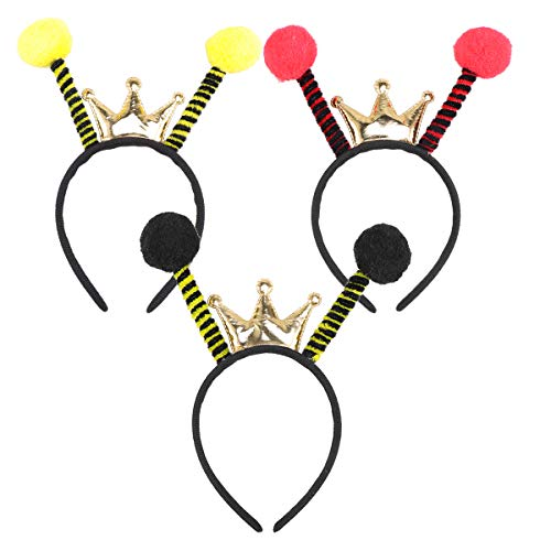 Amosfun 3 pcs Bienen Kopfschmuck Biene Haarreif Insekt Haarreif Accessoire für Karneval Fasching Halloween Party Kostüm Verkleidung