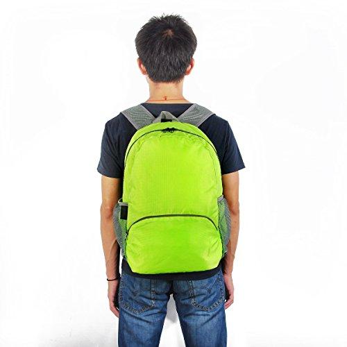 myoldsx tonpar leicht verstaubarer Rucksack, 20L Langlebig Reise Wandern Rucksack Tagesrucksack Wasserdicht, ULTRALIGHT und handlich faltbar Grün