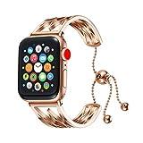 Libra Gemini Bracelet pour Apple Watch 38mm 40mm 42mm et 44mm Series 1 2 3 4, Acier...
