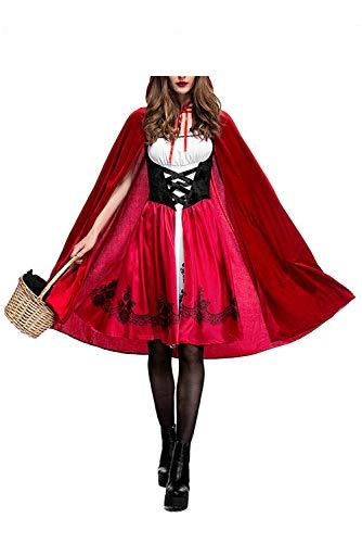 Disfraz de Criada para Mujer traje medieval Cosplay Caperucita Halloween Talla XL