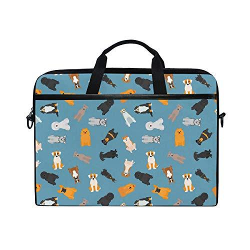 f2b7e1104fdbc COOSUN Different Dogs Breed Pattern Laptop Bag Shoulder Messenger Bag  Simplicity Slim Briefcase Commuter Bag Case