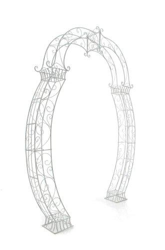 CLP XXL Rosenbogen NORBU, extra breit = 190 cm, Höhe 234 cm, Eisen pulverbeschichtet, FARBWAHL antik weiß