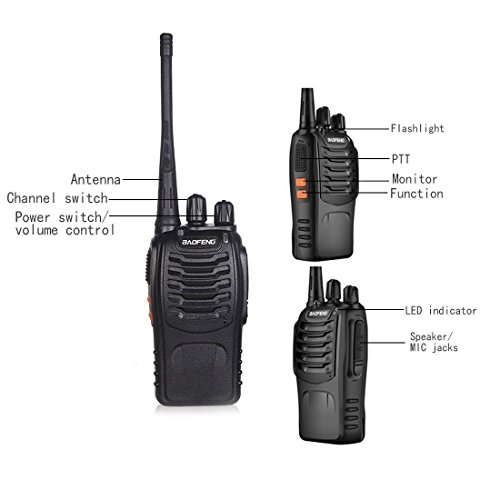 Zoom IMG-3 walkie talkie professionali sunreal bf