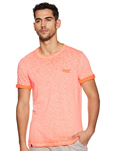 Superdry Herren Low Roller Tee T-Shirt, (Hyper Pop Orange Py8), X-Large (Herstellergröße: XL)